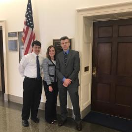 Congressman Beto O'Rourke's Senior Legislative Assistant March Rehman, Susan Rapant, and Jonathan Mize.